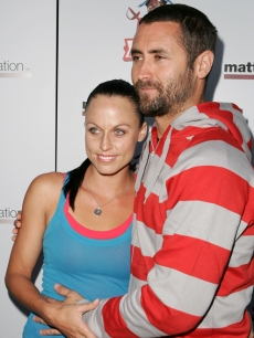 Amanda Beard and Sacha Brown at the Matt Leinart Foundation Celebrity Bowling Event at Lucky Strike Lanes in Hollywood on July 12, 2007