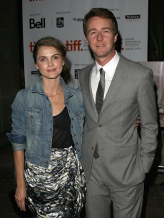 Keri Russell and Edward Norton arrive at the &#8216;Leaves of Grass&#8217; screening during the 2009 Toronto International Film Festival held at the Ryerson Theater in Toronto, Canada on September 14, 2009