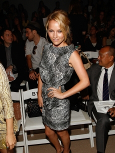 'Ugly Betty's' Becki Newton attends the Brian Reyes Spring 2010 fashion show at Bryant Park in New York City on September 15, 2009