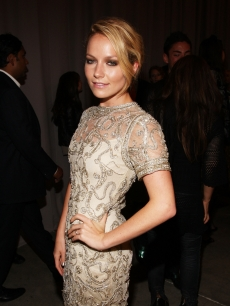 Becki Newton attends the Marchesa Spring 2010 Presentation at Chelsea Art Museum, NYC, September 16, 2009