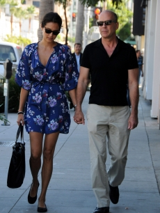 Emma Heming and Bruce Willis spotted shopping on September 17, 2009 in Los Angeles, California