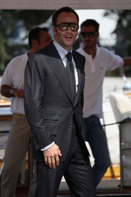 Fashion mogul and first-time film director Tom Ford is seen during the 66th Venice Film Festival in Venice, Italy on September 10, 2009