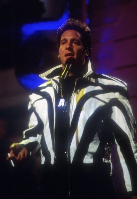 Andrew Dice Clay speaks out at the 1989 MTV Video Music Awards