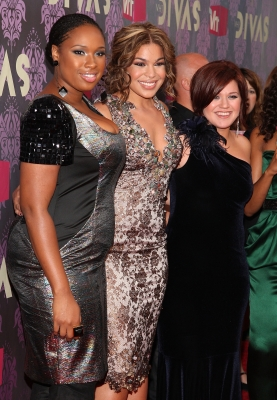 Jennifer Hudson, Jordin Sparks, and Kelly Clarkson attend 2009 'VH1's Divas' at the Brooklyn Academy of Music on September 17, 2009