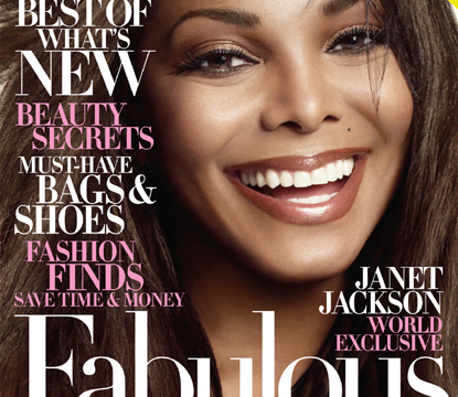 Janet Jackson graces the cover of October 2009's Harper's Bazaar