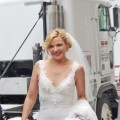 Kim Cattrall sports a wedding dress on the set of 'Sex and The City 2,' Sept. 18, 2009