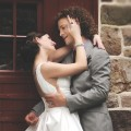 Justin Guarini and his new bride, Reina Capodici