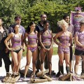 Castmembers from 'Survivor: Samoa' compete in a challenge, 2009