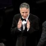 Jon Stewart takes the stage during the 61st Primetime Emmy Awards held at the Nokia Theatre, LA, September 20, 2009