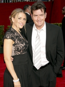 Brooke Mueller and Charlie Sheen make a night of it at the 61st Primetime Emmy Awards at the Nokia Theatre in LA on September 20, 2009