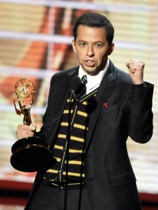 Jon Cryer accepts the Outstanding Supporting Actor in a Comedy Series award for &#8216;Two And A Half Men&#8217; during the 61st Primetime Emmy Awards, September 20, 2009