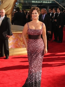 The beautiful Marcia Gay Harden arrives at the 61st Primetime Emmy Awards held at the Nokia Theatre on September 20, 2009 in Los Angeles, California