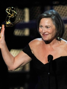 Cherry Jones accepts the Outstanding Supporting Actress In A Drama Series award for '24' onstage during the 61st Primetime Emmy Awards held at the Nokia Theatre, LA, September 20, 2009