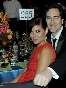 Debra Messing and her husband Daniel Zelman at the 61st Primetime Emmy Governors Ball in Los Angeles on September 20, 2009