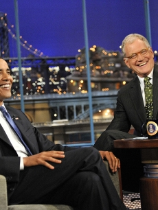 President Barack Obama on &#8216;The Late Show with David Letterman&#8217; on September 21, 2009