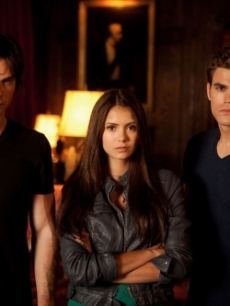 Paul Wesley as Stefan, Nina Dobrev as Elena and Ian Somerhalder as Damon on 'The Vampire Diaries'