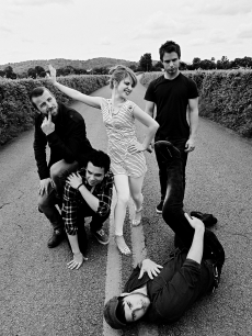 Rock band Paramore plays around