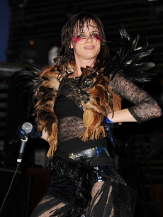 Juliette Lewis rocks out at the Culture Room on September 27, 2009 in Fort Lauderdale, Florida