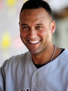 New York Yankees star Derek Jeter before a game against the Los Angeles Angels of Anaheim on September 23, 2009