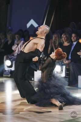 Chuck Liddell and Anna Trebunskaya compete during Week 2 of 'Dancing'