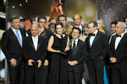 The cast and creators of '30 Rock' accept the award for Best Comedy Series at the 2009 Emmy Awards