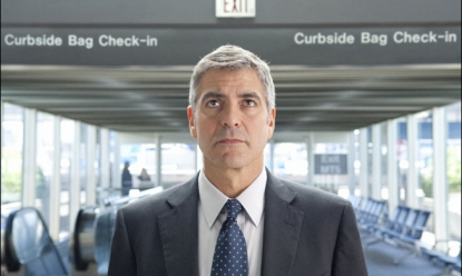 "George Clooney ponders his next destination in ""Up in the Air"""