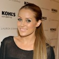 Lauren Conrad smiles at the launch of her Kohl's clothing line in West Hollywood on October 1, 2009