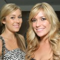 Lauren Conrad and Kristin Cavallari at the reveal and launch party of LG Electronics&#8217; (LG) Scarlet HD TV Series at the Pacific Design Center on April 28, 2008 in Los Angeles, California