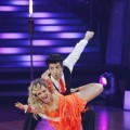 Melissa Joan Hart takes a dip from Mark Ballas during Week 3 of &#8216;Dancing&#8217;