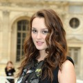 Leighton Meester arrives in style for the Louis Vuitton Pret a Porter show in Paris, France on October 7, 2009