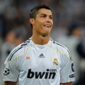 Soccer superstar Cristiano Ronaldo smiles before the Real Madrid vs. Marseille match in Madrid, Spain on September 30, 2009