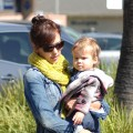 Jessica Alba and baby Honor step out in Los Angeles on October 10, 2009