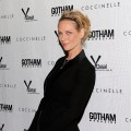 A luminous looking Uma Thurman attends the &#8216;Motherhood&#8217; premiere hosted by Gotham magazine at the SVA Theater, NYC, October 14, 2009