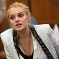 Lindsay Lohan takes a seat in court in Beverly Hills on October 16, 2009