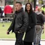 Ben Affleck and Rebecca Hall hit the set of 'The Town,' Boston, Mass. October 1, 2009