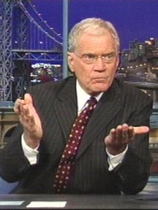David Letterman as he tells his story during a taping of his late-night show Thursday Oct. 1, 2009 that he had sexual relationships with female employees and that someone tried to extort $2 million from him over the affairs