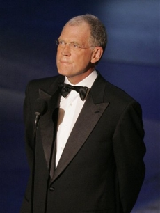 David Letterman makes a surprise appearance at the Primetime Emmy Awards in Los Angeles in 2005