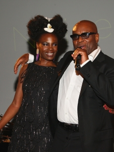 Shingai Shoniwa of Noisettes and L.A. Reid attend the Island Def Jam Spring Collection party at Stephen Weiss Studio, NYC, on May 20, 2009