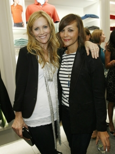Host Leslie Mann and Rashida Jones at LACOSTE&#8217;s Pink Croc launch event in Beverly Hills. 100% of proceeds from the beach-themed pink collection were donated to The Breast Cancer Research Foundation. Judd Apatow, Michael Cera and Jason Segal also attended. Visit www.lacoste.com to check out the collection.