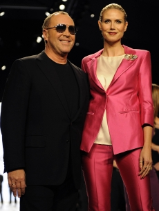 Heidi Klum and Michael Kors at the &#8216;Project Runway&#8217; season finale show at Bryant Park in New York on February 20, 2009