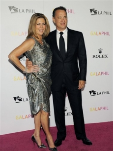 Tom Hanks and wife Rita Wilson are all smiles at the Inaugural Gala of the Los Angeles Philharmonic at Walt Disney Concert Hall in Los Angeles on October 8, 2009