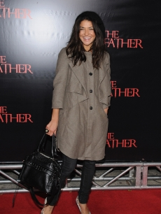 Jessica Szohr attends the premiere of 'The Stepfather' at the SVA Theater, NYC, October 12, 2009