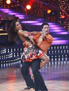 Mya and Dmitry Chaplin show off their Lambada skills on 'Dancing's' Week 4