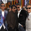 Jermaine Jackson, Randy Jackson, Tito Jackson, and Marlon Jackson arrive at the premiere of Sony Pictures' 'This Is It' held at Nokia Theatre Downtown LA on October 27, 2009