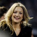 Kate Hudson looks on during Game One of the 2009 MLB World Series at Yankee Stadium on October 28, 2009 in the Bronx borough of New York City