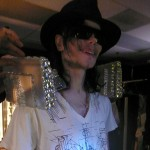 Michael Jackson models part of his opening number costume in this Zaldy 'This Is It' design