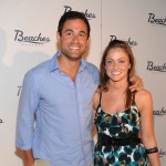 Jason Mesnick and Molly Malaney attend the grand opening of Italian Village &amp; Pirates Island Waterpark at Beaches Turks &amp; Caicos Resort Villages &amp; Spa on May 15, 2009 in Providenciales, Turks And Caicos Islands