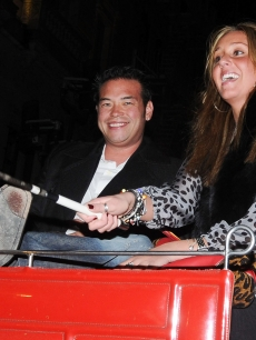 Jon Gosselin and Hailey Glassman arrive at the Oak Room by carriage on October 17, 2009 in New York City