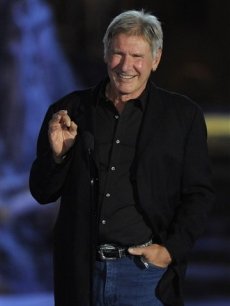 Harrison Ford presents the best director award at the 'Scream Awards' on Saturday, Oct. 17, 2009, in Los Angeles