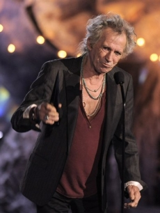 Keith Richards accepts the Rock Immortal award at the 'Scream Awards' on Saturday, Oct. 17, 2009, in Los Angeles